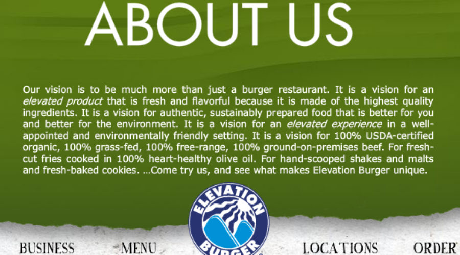Elevation Burger issues RFP for Public Relations