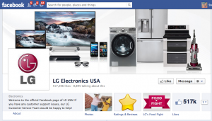 Global social media review for LG