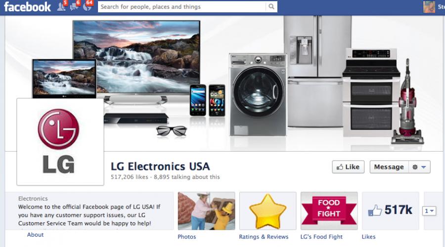 Global social media review for LG