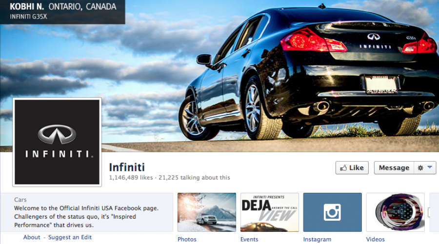 Infiniti fires-up Global Social-Media pitch