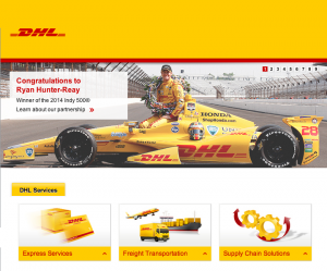 DHL has helicoptered back to the USA