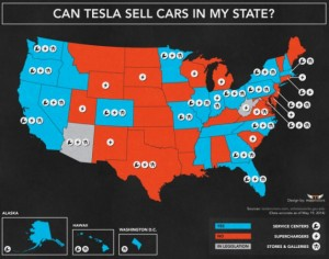 Tesla expands the direct sales map