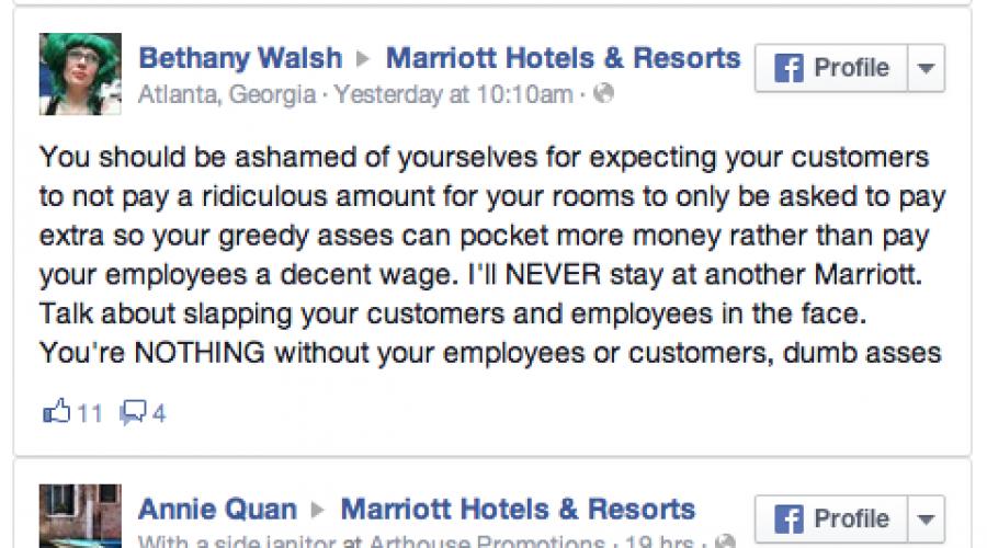 Marriott's got a PR problem that's not uncommon