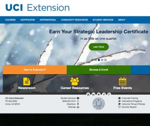 New marketing lead @ University of California Irvine Extention