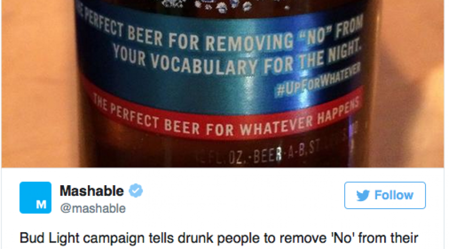 "Is the ""Up for anything"" Bud Light campaign too tainted?"