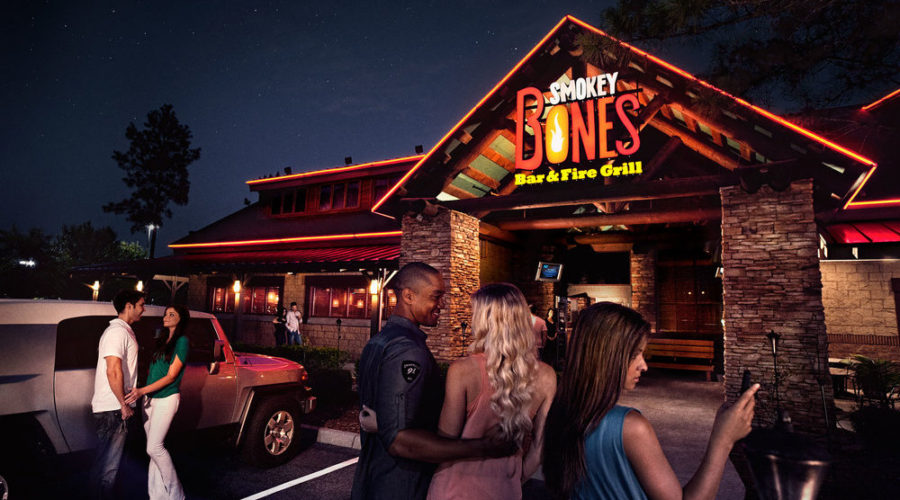As we predicted on 9/9/15: Smokey Bones Bar & Fire Grill went in to review this fall