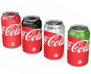 This photo provided by The Coca-Cola Company shows the new appearance of Coca-Cola cans. Coca-Cola says it is giving cans and bottles of its flagship sodas a makeover, with plans to unify the appearance of regular Coke, Diet Coke, Coke Zero and Coke Life. (The Coca-Cola Company via AP) MANDATORY CREDIT
