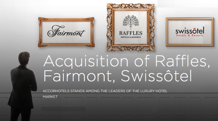 Luxury hotel brands Fairmont, Raffles & Swissotel: Sold