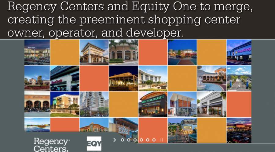 Malls collide: Regency Centers & Equity One
