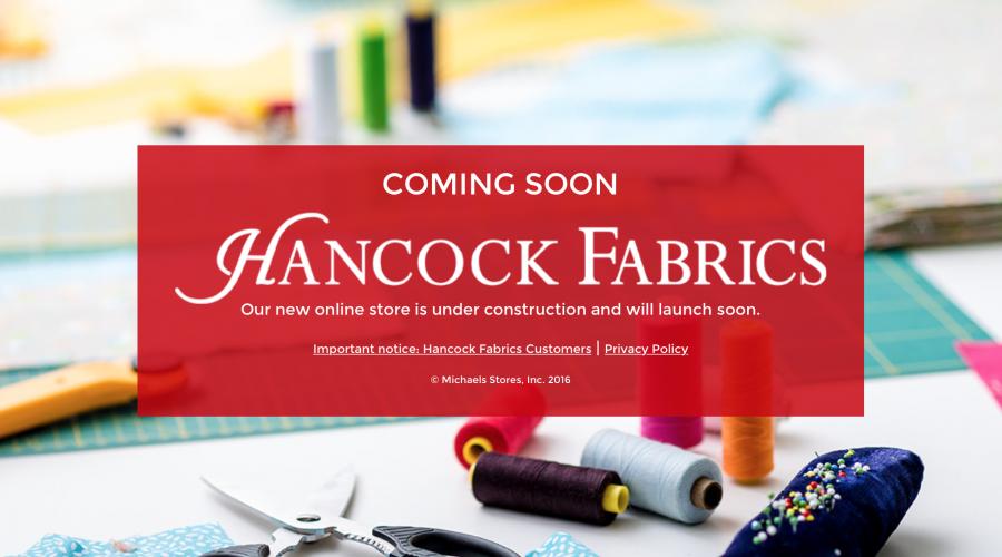 Relaunching HancockFabrics.com