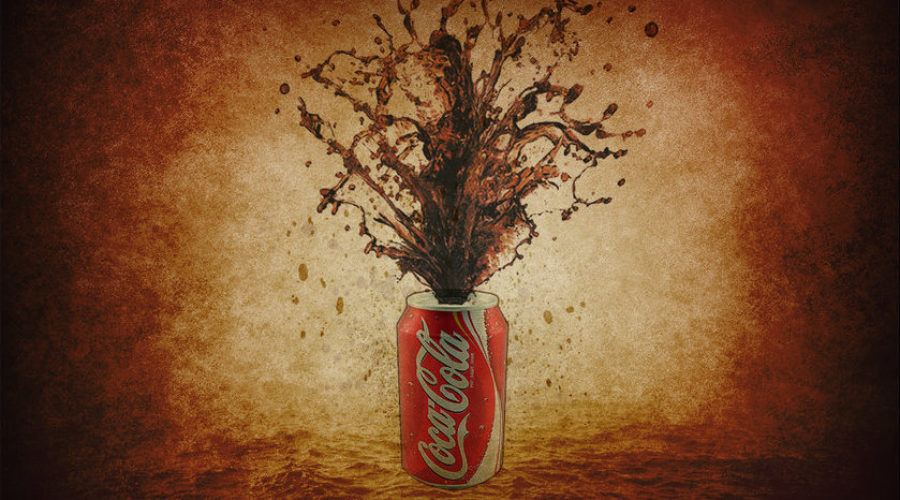 Still shaking the can at Coca-Cola