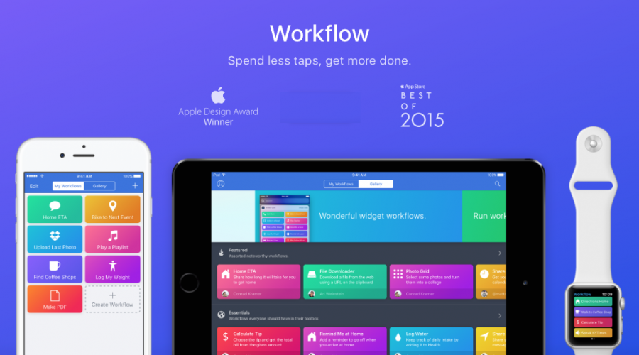 Workflow app becomes a slice of Apple