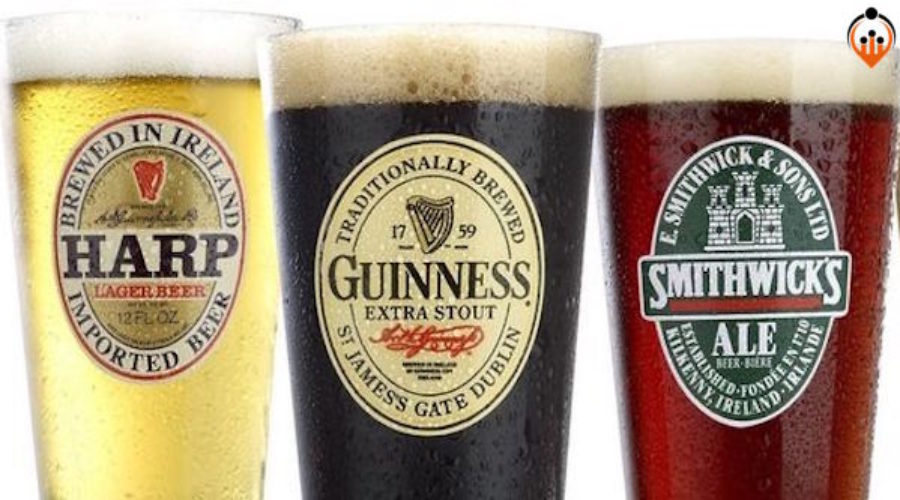 Look into Guinness, Harp, Smithwick's & Smirnoff Ice brands