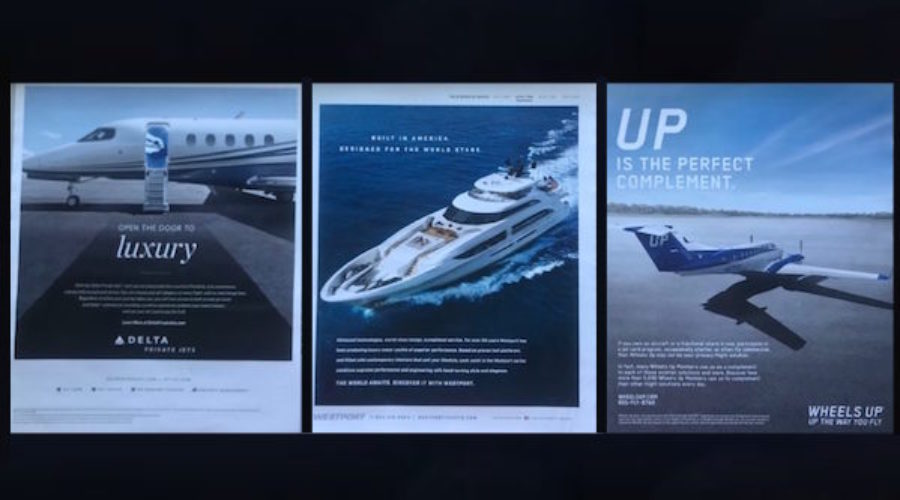 We took a look at some ads in the Robb Report magazine and, Oh Boy!
