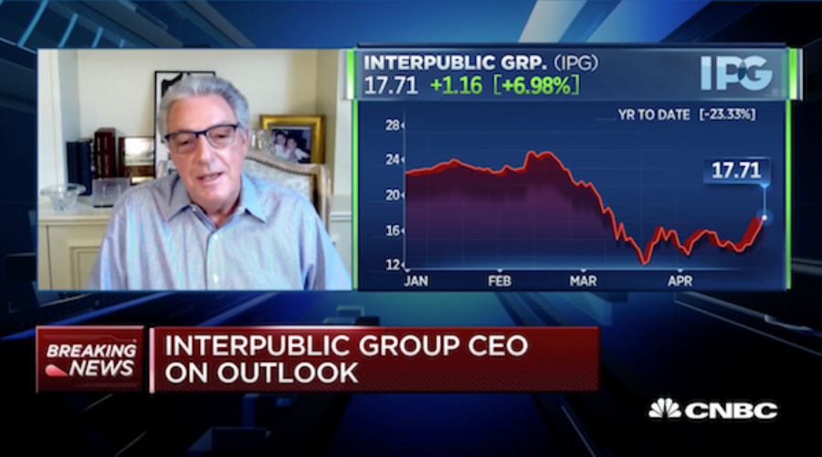 Today's IPG CEO Interview on CNBC