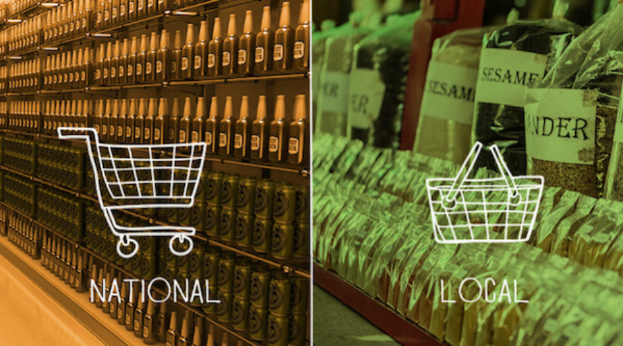 Retailer going Local vs. National on inventory = they need a new campaign